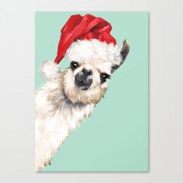 Christmas Sneaky Llama Canvas Print