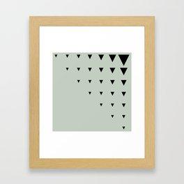 Black Triangles on Grey-Green Framed Art Print