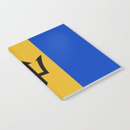 Barbados Flag (Patchwork Look) Notebook