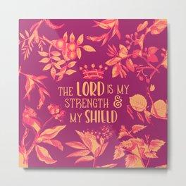 Shield (Burgundy Version) Metal Print