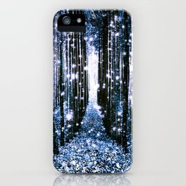 Magical Forest Dark Blue Elegance iPhone Case