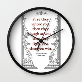 Mahatma Gandhi Aphorism, Words of Wisdom Wall Clock
