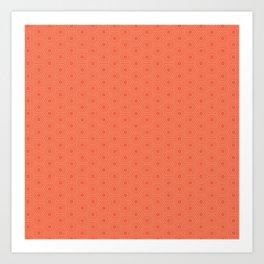 orange hexagonal pattern Art Print