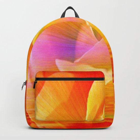Sunset Rose Abstract Backpack