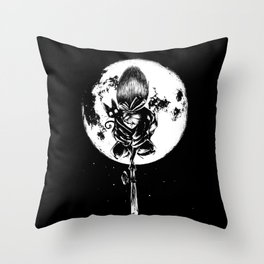 A Noir Witch Throw Pillow