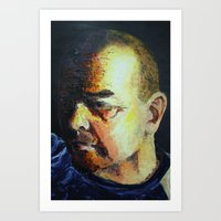 dad Art Prints featuring Dad by Ellen Wappett