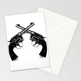 Crossed Revolvers Stationery Cards