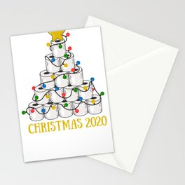 Christmas 2020 Toilet Paper Tree Stationery Cards