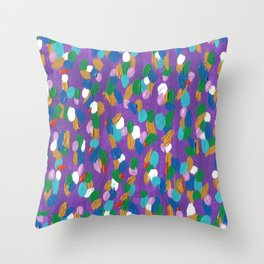 The Changing Seasons Abstract Throw Pillow