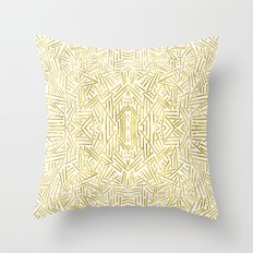 Radiate - Gold Throw Pillow