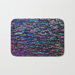 Afantasy Abstraction of Tree Bark Bath Mat