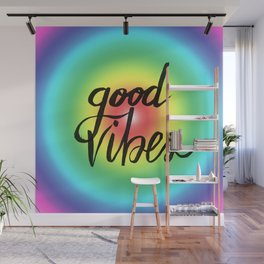 Good Vibes - Rainbow Pride Wall Mural