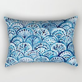 DEEP LIFE Mermaid Scales Rectangular Pillow