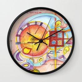 symbols on the walls Wall Clock