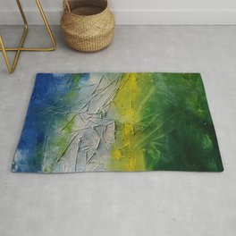 Tropicana Abstract Painting Textured Rug