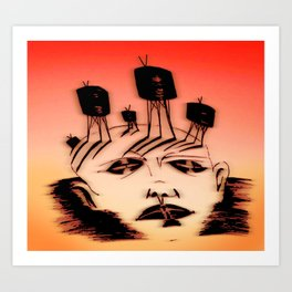 mind over media Art Print