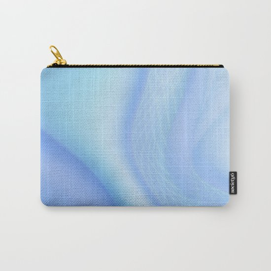 Soft Blue Wave Carry-All Pouch