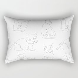 Cat One-Liners Rectangular Pillow