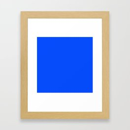 Navy Blue Colour Framed Art Print