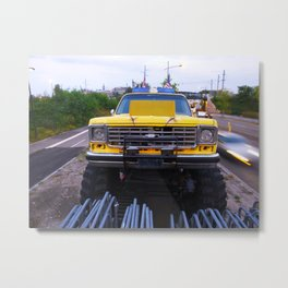 Chevy Monster Truck Metal Print
