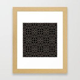 Islamic-African Geometric Pattern Framed Art Print