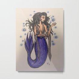 Witchy Mermaid Metal Print