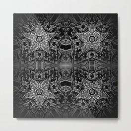 Black Gothic Stars Metal Print