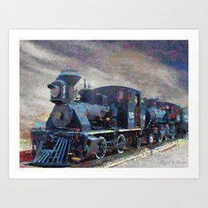 Old steam locomotives Art Print