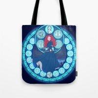 merida Tote Bags featuring Merida by NicoleGrahamART