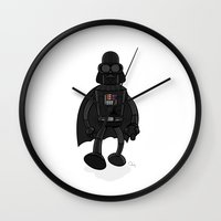 bender Wall Clocks featuring Darth Bender by Andy Whittingham