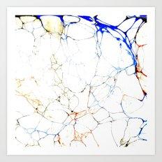 Marbled Blue Veins Art Print