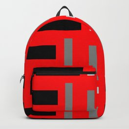 Pattern of Squares in Red Backpack