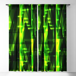 Luxurious green stripes and metallic triangles of blades of grass create abstraction and glow. Blackout Curtain