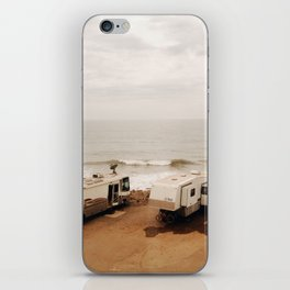 Campers on the beach iPhone Skin