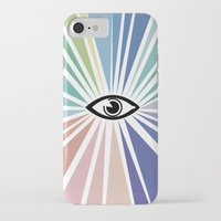 all seeing eye iPhone & iPod Cases featuring All seeing eye  by Nobra