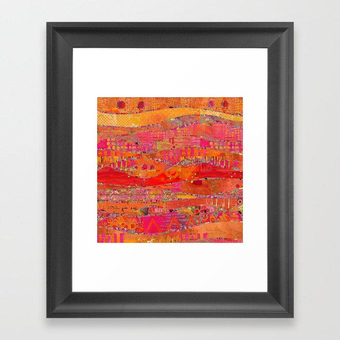 Firewalk Abstract Art Collage Gerahmter Kunstdruck