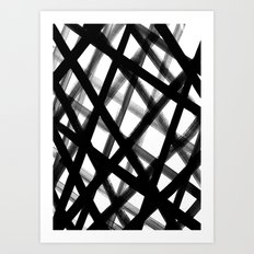 Criss Cross Black and White Art Print