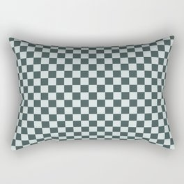 Checkerboard Pattern Inspired By Night Watch PPG1145-7 & Cave Pearl PPG1145-3 Rectangular Pillow