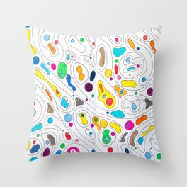 Black Rainbows Throw Pillow