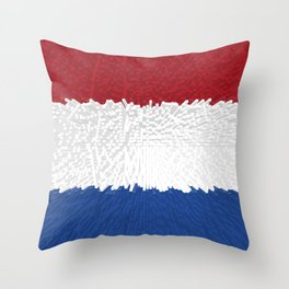 Extruded flag of the Netherlands Throw Pillow