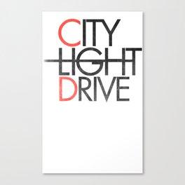 City Light Drive Canvas Print