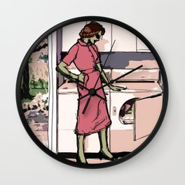 Lonely Alien Housewife - 2 Wall Clock