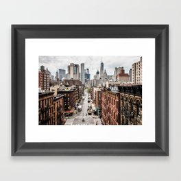 New York City Skyline (Brooklyn, Queens, Manhattan) Framed Art Print