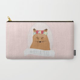 Flower Crown Fox Carry-All Pouch