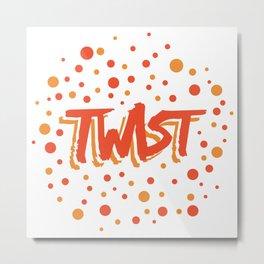 Twist N.18 Modele Rond Metal Print
