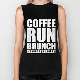 Running T-Shirt Coffee Run Brunch Sunday Runner Gift Apparel Biker Tank