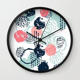 Mellie - abstract minimal modern art print painted boho hipster gender neutral canvas art Wall Clock
