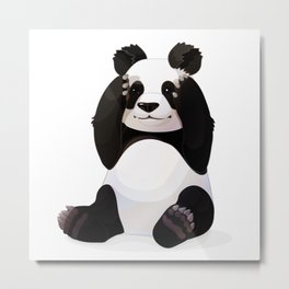 Cute big panda bear Metal Print