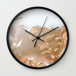 autumn on plantation Wall Clock
