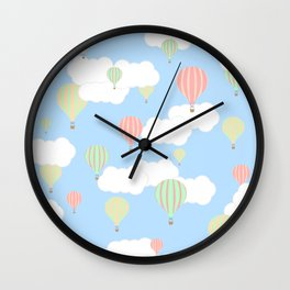 Hot Air Balloon In the Sky Wall Clock